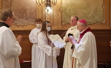 Kandydatura do święceń diakonatu i prezbiteratu kleryka Dariusza Karbowskiego.